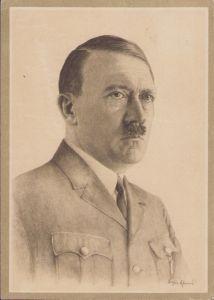 Adolf Hitler Sketch Postcard
