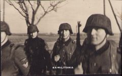 Marching Waffen-ss Soldiers Photograph