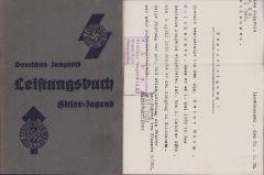Named Deutsche-Jungvolk Leistungsbuch + Document