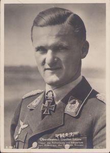 Ritterkreuzträger Postcard Oberstleutnant Lützow