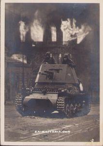 Waffen-ss ''Nach hartem Kampf genommen' Postcard