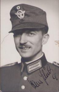 Signed Schutzpolizei Portrait Postcard
