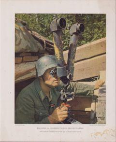Kunstblätter 'Grenadier als Beobachter'