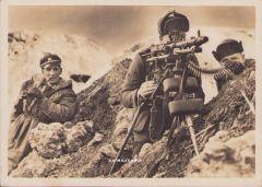 Waffen-ss ''Am MG'' Postcard