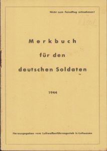 LW 'Merkbuch für den deutschen Soldaten' 1944
