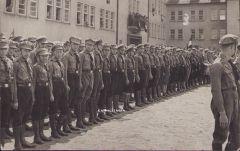 Hitler Jugend 'Lined up' Photograph