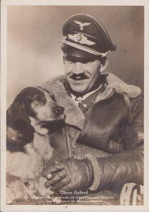Ritterkreuzträger Postcard Oberst Galland