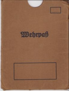 Wehrpass Protection Sleeve