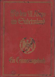 Rare 'VII.Korps ins Sudetenland' Booklet