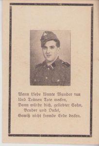 SS-Rottenführer Death Notice 1945 (Westfront)