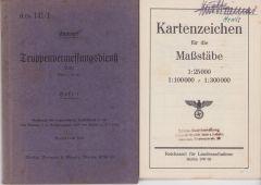 'Truppenvermessungsdienst' Instruction Booklet 1942