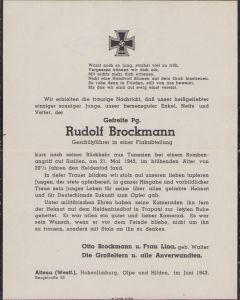 Luftwaffe Flak Soldier Death Notice (Sicily)