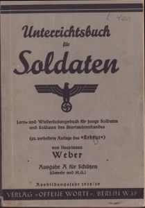 Unterrichtsbuch für Soldaten 1938/39