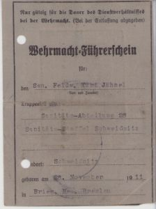 Wehrmacht-Führerschein (San.Abt.28)
