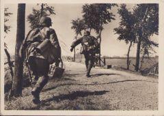 Waffen-ss 'MG.nach vorn!' Postcard