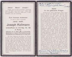 WW1 Death Notice 1915 (Belg/Pol.)