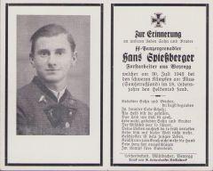 SS-Panzergrenadier Death Notice 1943 (Forstarbeiter)