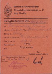 NSKOV Mitgliedskarte