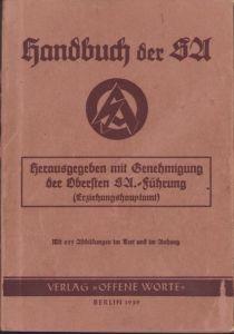 Rare Handbuch der SA 1938
