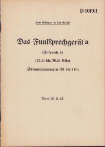 Rare 'Das Funksprechgerät a' Training Booklet