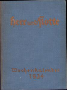 Heer und Flotte Wochenkalender 1934