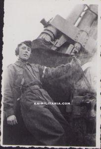Flakhelfer 8,8cm Flak Photograph