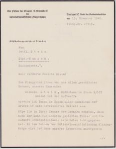 NSFK Gruppe 15 Related Death Notice 1940