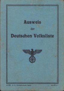 Ausweis der Deutschen Volksliste 1941