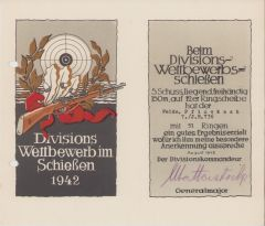 7./Inf.Rgt.736 Shooting Certificate 1942 (France)