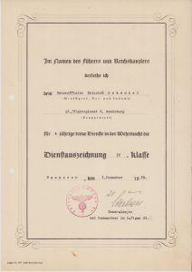 13/Flakregiment 6 Dienstauszeichnung IV.Klasse Doc
