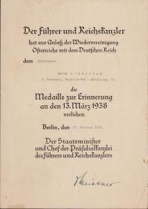 2./Nachr.Abt.53 Anschluss Award Doc