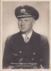 Ritterkreuztrager Postcard Kapitänleutnant Lehmann-Willenbrock