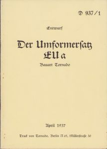 Rare 'Umformersatz' Instruction Booklet
