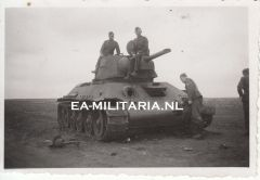 Knocked-out Russian T34 Photograph
