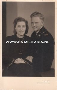 Panzer Soldier and Wife Photograph