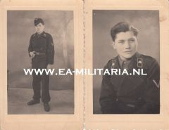 2 Photographs of a Panzer Soldat (1945)