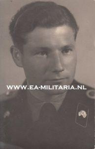 Close up Portrait Panzer Leutnant