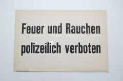 Smoking Prohibited Polizei Sign