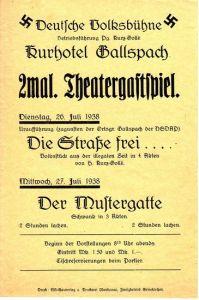 'Deutsche Volksbühne'' Theater Poster
