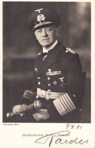 Signed Grossadmiral Raeder Postcard
