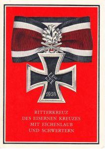 RK des Eisernes Kreuz mit Eichenlaub und Schwerten Posrcard