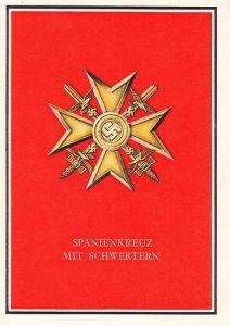 Spanienkreuz mit Schwerten Postcard