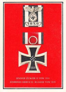 Spange zum EKII 1914 und EKII 1939 Postcard