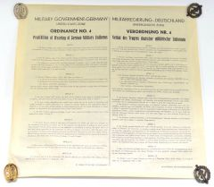Allied/German Proclamation No.1 Poster