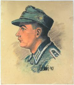 Published Gebirgsjäger Oberfeldwebel Portrait (1940)