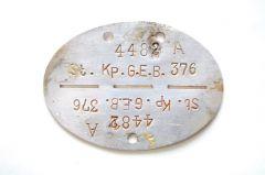 St.Kp.Gren.Ers.Btl.376 Erkennungsmarke (Kleve/Venlo)