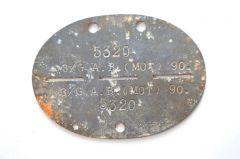 3./Gren.Ausb.Batl.(MOT)90 Erkennungsmarke (Reichswald,Venlo)
