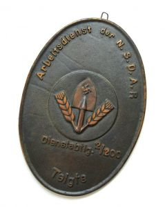 Arbeitsdienst der N.S.D.A.P. Wall Plaque