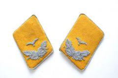 Matching Luftwaffe Flieger Leutnant Collar Tabs