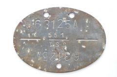 1./Fallschirmjäger-Ausbildungs-Regiment 1 Erkennungsmarke